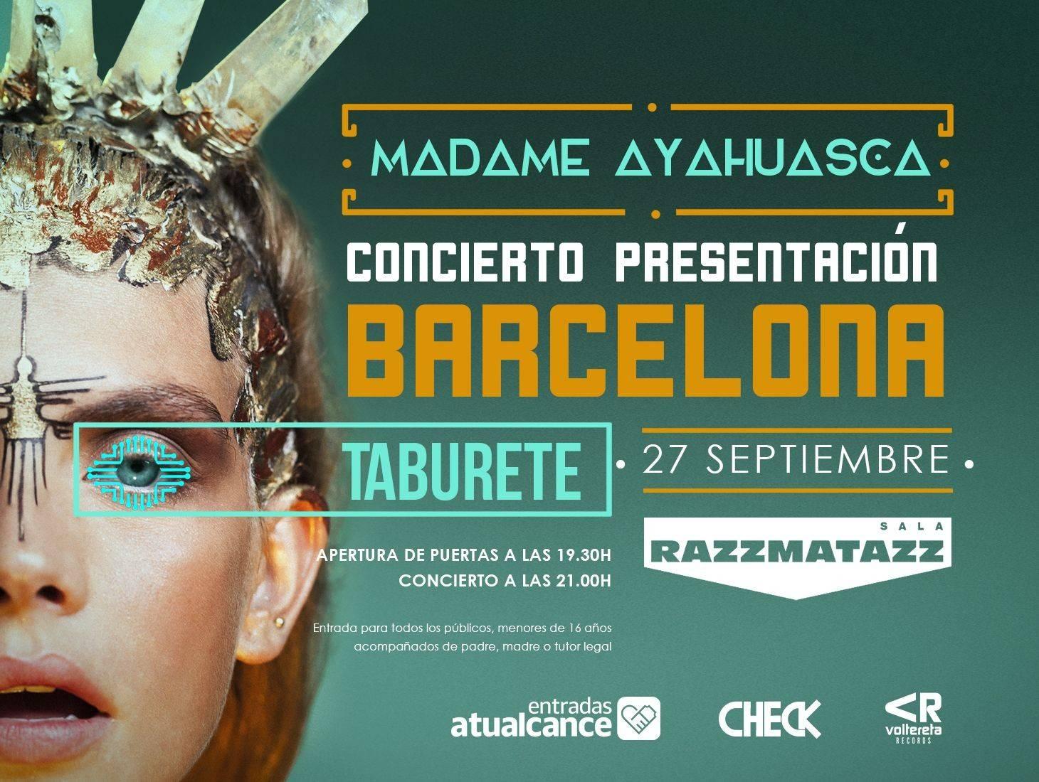 taburete - presentación nueva gira concierto en sala razzmatazz