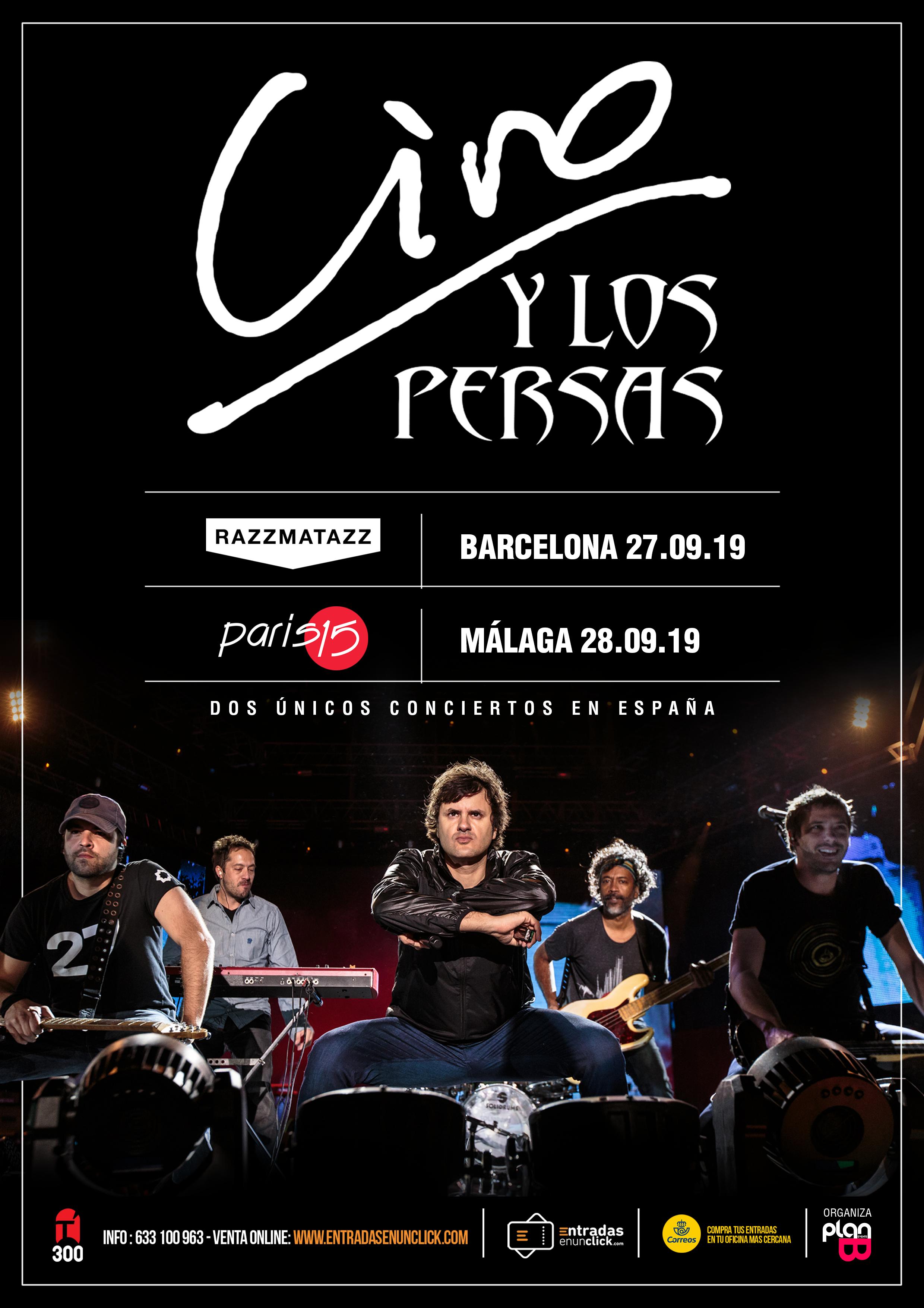 Ciro Y Los Persas Concert A Sala Razzmatazz Barcelona 27 09 2019 Salarazzmatazz Com